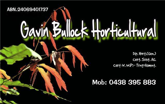 Gavin Bullock Horticultural Contact